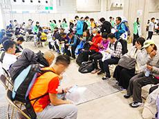 大阪マラソンボランティア施術風景