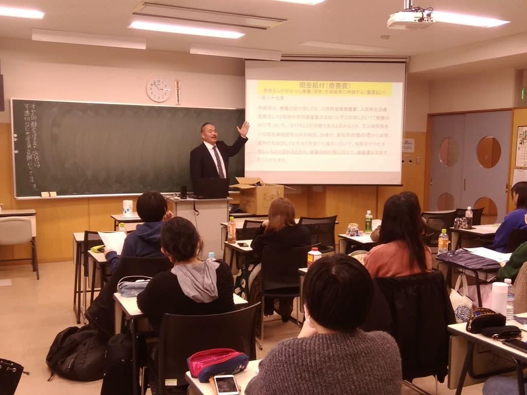 札幌青葉学園での授業風景